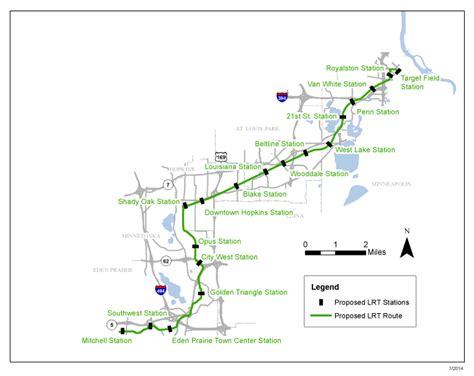 Light Rail Route by Officials Balk At Potential Southwest Light Rail Line Cuts
