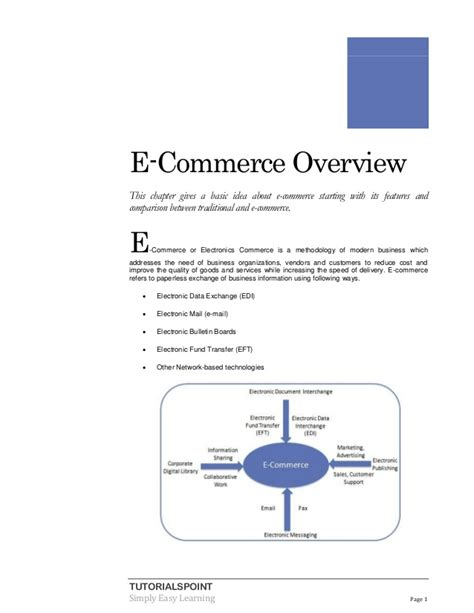 tutorialspoint ecommerce e commerce tutorial
