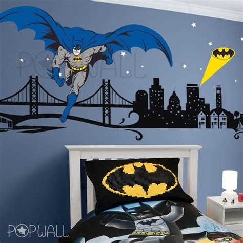 cityscape wall stickers batman wall decal cityscape wall