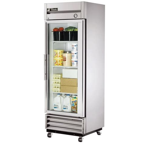 Refrigerator With Glass Front Door True T 19g Reach In Refrigerator 1 Section