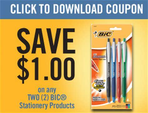 printable stationery coupons bic pens printable coupons coupons 4 utah