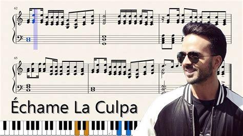 download mp3 echame la culpa 201 chame la culpa accurate sheet music for piano youtube