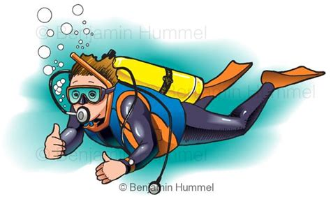 diver  hummel illustration