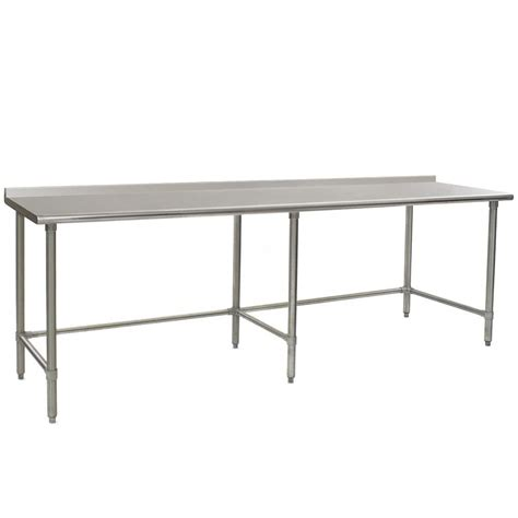 30 x 96 table eagle group ut3096gte 30 quot x 96 quot open base stainless steel