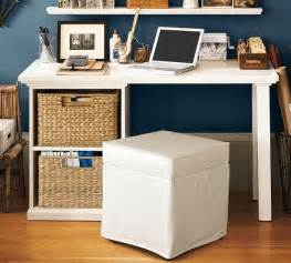 Small Desk Storage Ideas Bedford Small Desk Set With Open Cabinet Contemporary Desks And Hutches By Pottery Barn