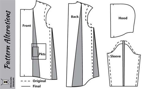 pattern making of jacket patternmaking the hooded denim jacket duelling designs