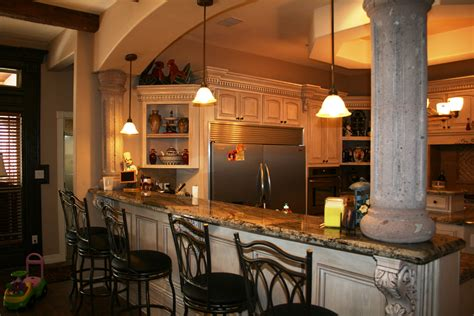 kitchen design with bar new construction
