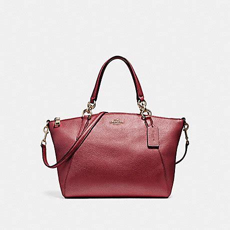 Coach Kelsey Small Patcwork small kelsey satchel f23538 light gold metallic cherry