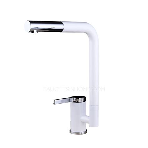 cool kitchen faucets cool white rotatable one single handle kitchen faucets