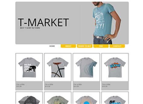 t shirts website template wix