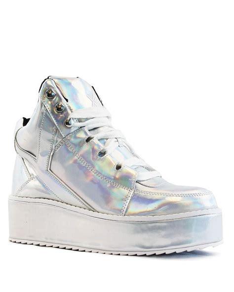 yru shoes yru low key hologram platform shoes iheartraves