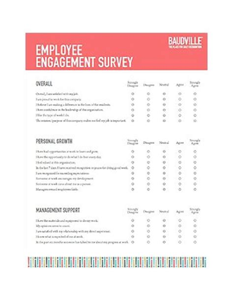 employee engagement survey at baudville com