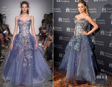 Catwalk To Carpet Beyonce Knowles In Zac Posen by Kelsea Ballerini In Zac Posen 2017 Symphony Fashion Show