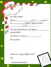 Worksheets gt holidays and traditions gt christmas gt christmas letter