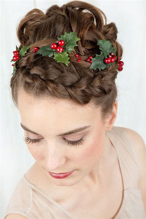 holiday hair accessories holly hair clip christmas hair