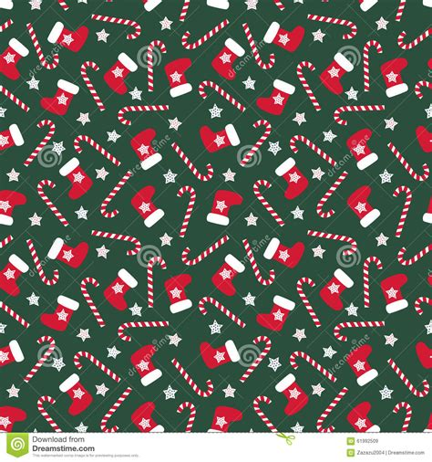 seamless christmas pattern vector seamless christmas pattern with xmas stocking stars and