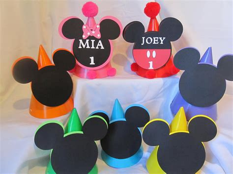Carset Paket Hemat Motif Minnie Mouse mickey mouse clubhouse birthday hats by dreamcometrueparties