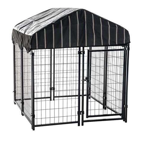kennels home depot lucky 52 in h x 4 ft w x 4 ft l pet resort kennel with cover cl 60445 the