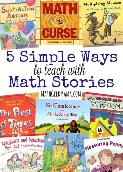 picture book stories 5 simple ways to teach with math story books