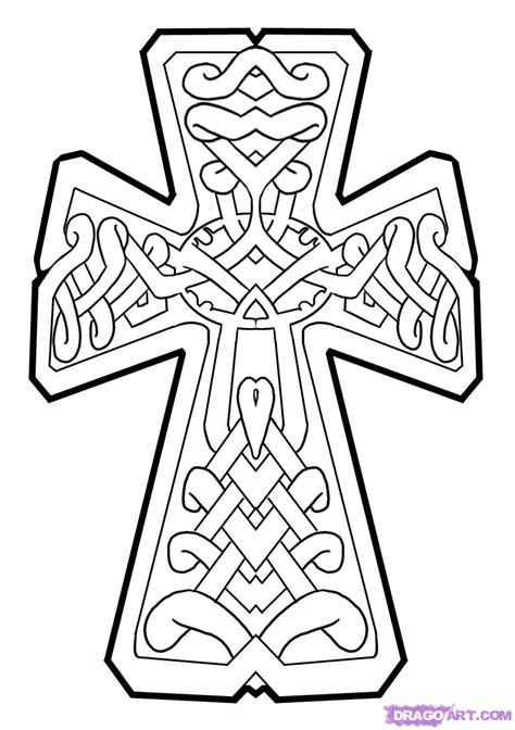 tattoo drawing gallery free how to draw a celtic cross step by step tattoos pop