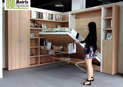 queen wall bed with desk smart space saving wall bed murphy bed with bookshelf desk