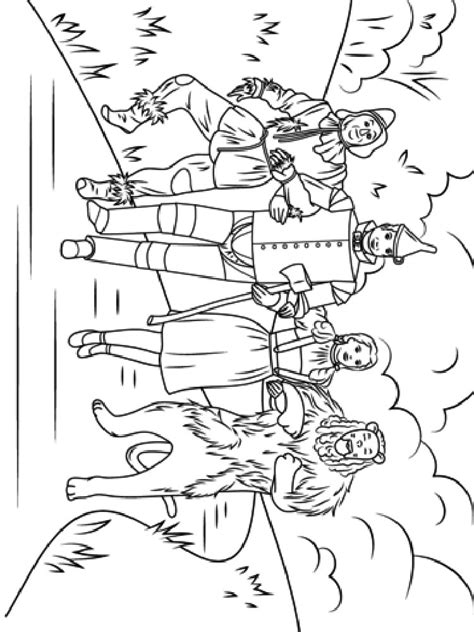 Wizard Of Oz Coloring Pages Download And Print Wizard Of Wizard Of Oz Printable Coloring Pages