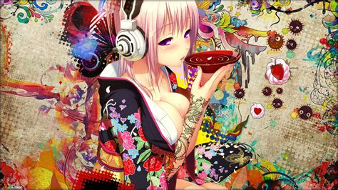 anime girl tattoo hd wallpaper super sonico tea maanre