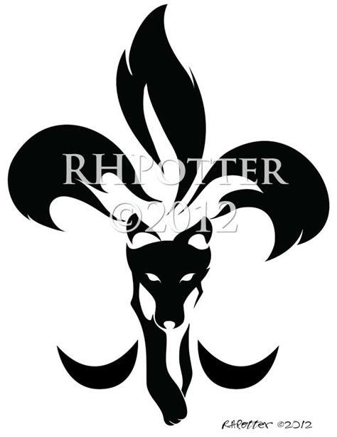 fleur de lis kitsune by rhpotter on deviantart
