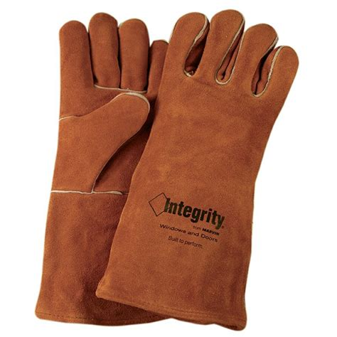 suede cowhide leather welder fireplace gloves logo