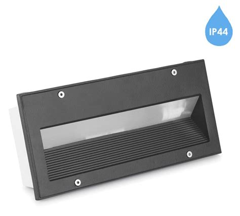 recessed outdoor wall lights brick light leds c4 micenas ip44 outdoor recessed brick wall light