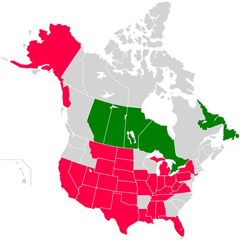 us states and canada provinces map 1730 in canada
