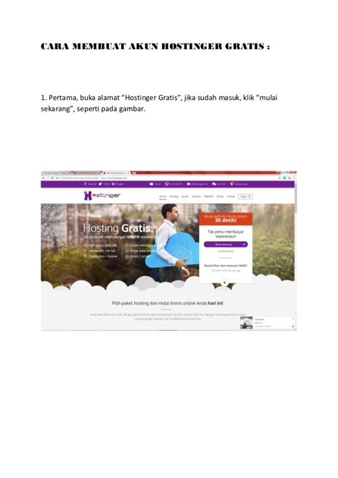 membuat akun visa gratis cara membuat akun hostinger gratis