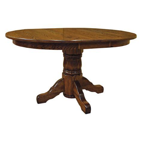 amish 42 quot pedestal dining table w leaf drcvtsp42r120