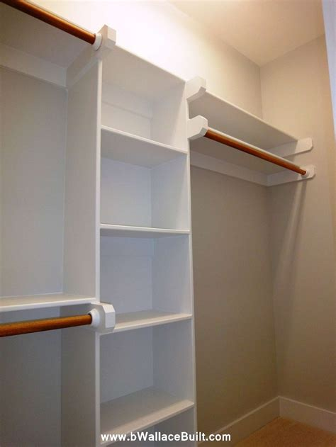 Built In Wooden Shelves Closet 25 Best Fitted Wardrobes Images On