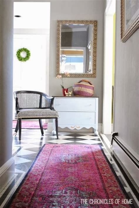 bold pink entryway rugs the chronicles of home