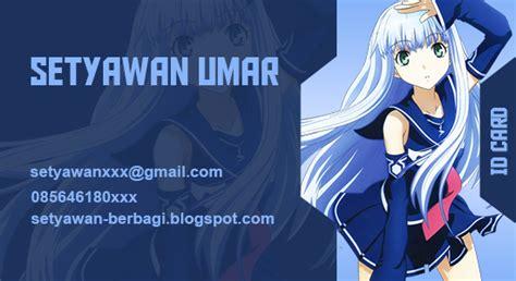 membuat id card anime cara membuat anime id card setyawan berbagi