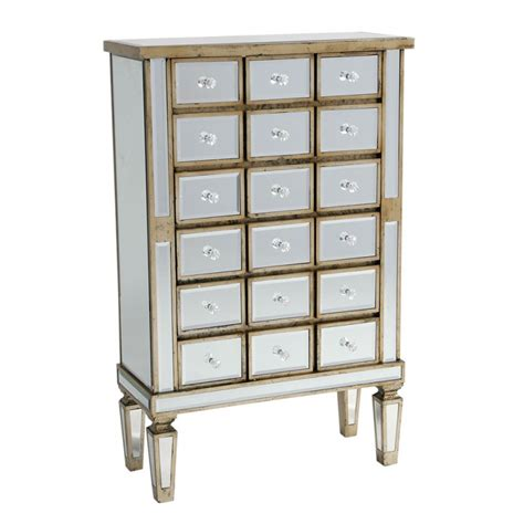 Antique Mirrored Chest Of Drawers by Mirror Antique Silver Trim 18 Drawer Chest Cabinet