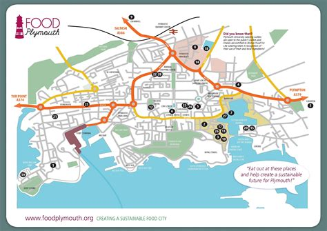 map of plymouth restaurants and eateries