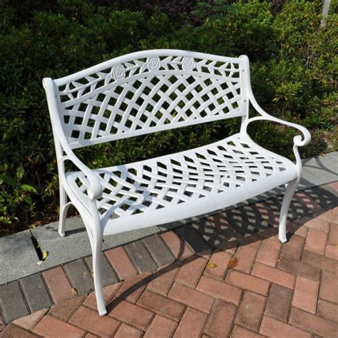 garden bench white rails or benches or both oh my hometown decking and
