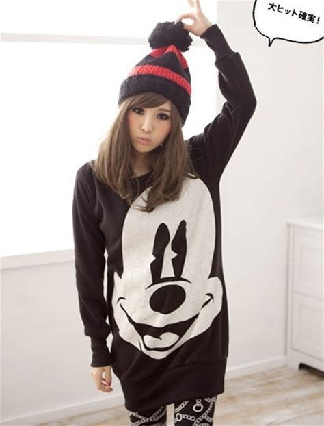 Sweater Hoodie Mickey Fashion Wanita Murah mickey sweater dress why is this so adorable fashion and mickey