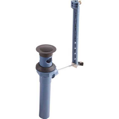 Delta Plastic Pop Up Drain Assembly Less Lift Rod In