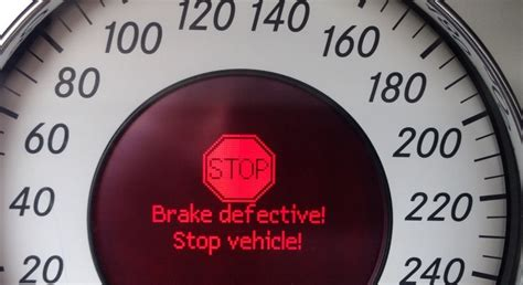 failure to stop at light brakes defective stop vehicle brake failure c249f fault