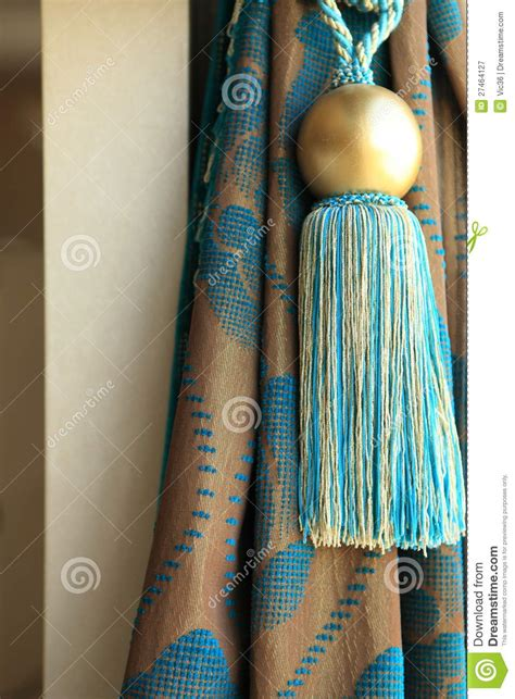 Fancy Drapes Luxury Curtain Drapes And Tassel Stock Image Image Of