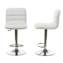 baxton studio kasey white solid wood swivel bar stool with adjustable bar stools bar furniture affordable modern