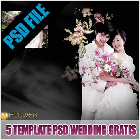 tutorial photoshop untuk foto pre wedding 5 template wedding gratis format psd album kolase