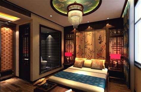 chinese bedroom decor chinese style master bedroom with bathroom and computer