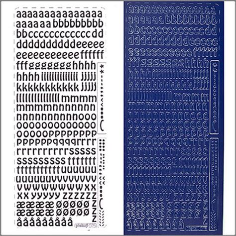 Klebebuchstaben Kleinbuchstaben by Sticker Kleinbuchstaben 9mm Blau Zum Kerzen Verzieren