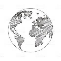 World Outline Drawing by Dibujo Vector De Mapa De Mundo Globo Illustracion Libre De Derechos 505626040 Istock