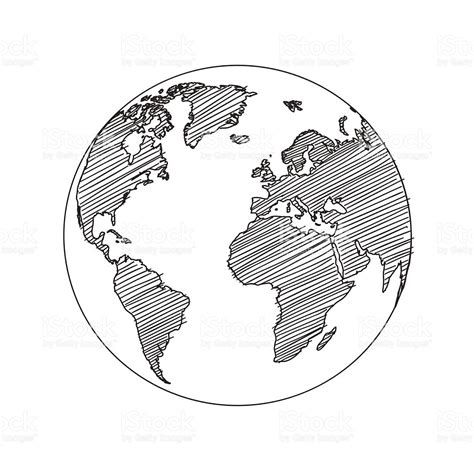 sketchbook vector world map globe sketch vector stock vector more