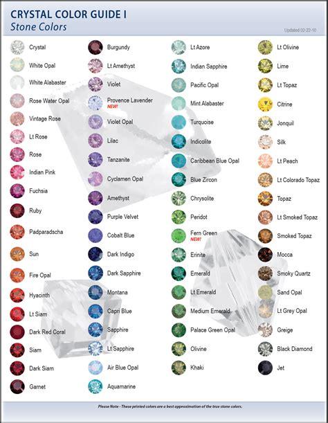 2009 swarovski color charts artbeads blog
